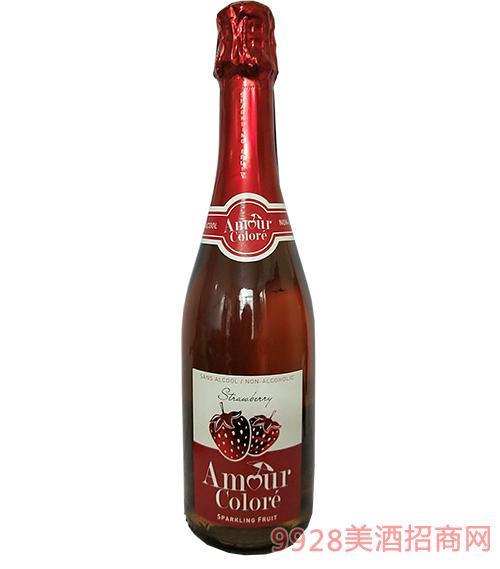 法国纷纷果恋草莓味无醇起泡酒
