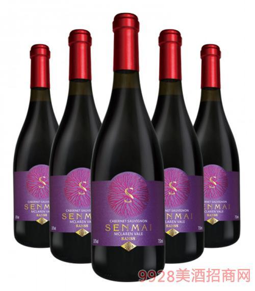 澳洲森脉SAN88麦克拉伦赤霞珠干红葡萄酒14.5度750ml