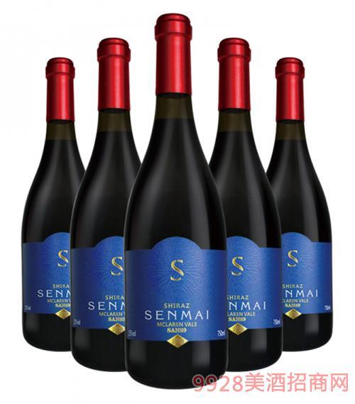 澳洲森脉SAN89麦克拉伦西拉干红葡萄酒15度750ml