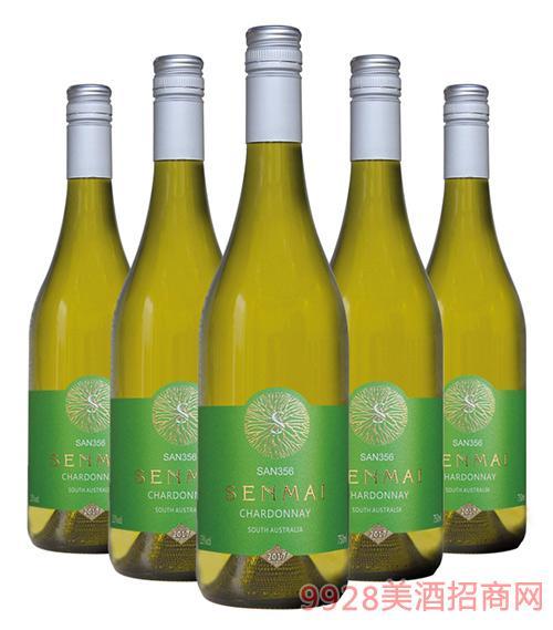 澳洲森脉SAN356南澳霞多丽干白葡萄酒13度750ml