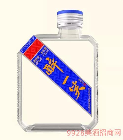 醉一笑酒蓝标小方瓶42度125ml