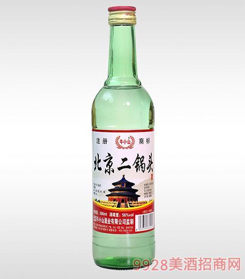 绿瓶北京二锅头酒56度500ml