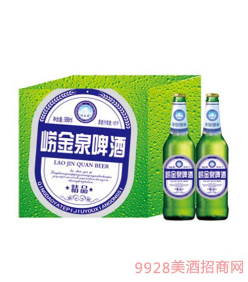 崂金泉纯生啤酒600mlx12瓶