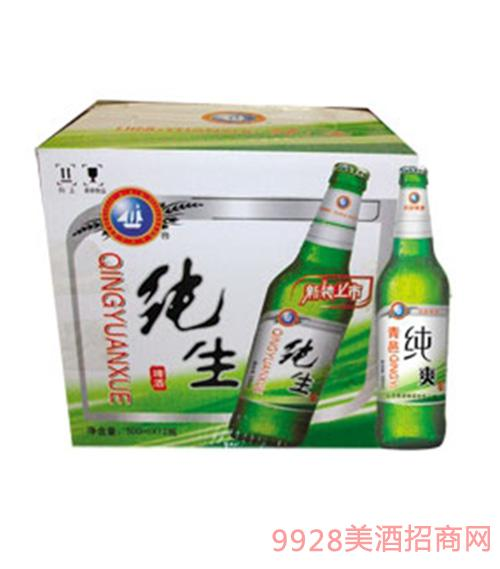 青源纯生啤酒500ml