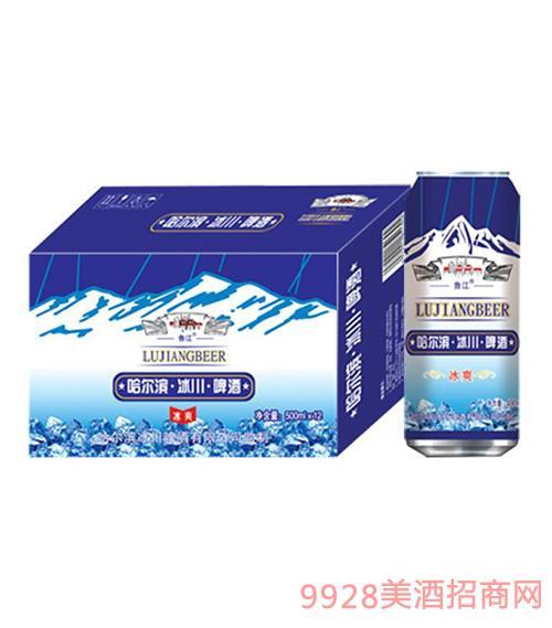 哈尔滨冰川啤酒500mlx12罐