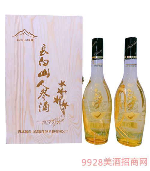 长白山印象木盒人参酒42度600ml