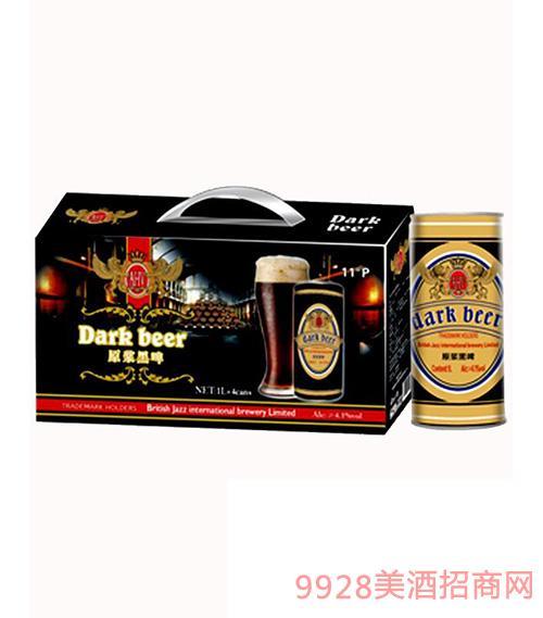 原浆黑啤罐装11°1L