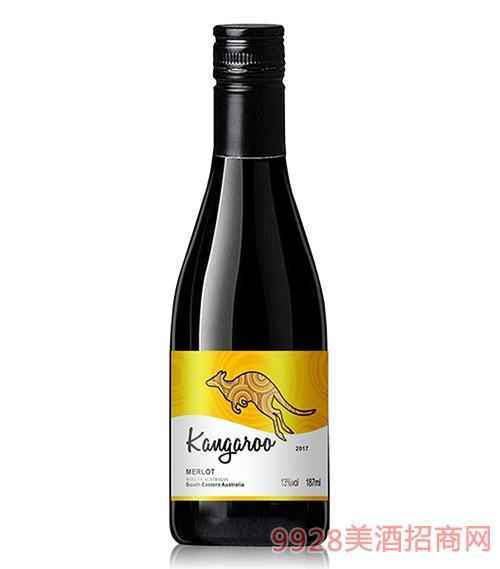 姆隆袋鼠美乐干红葡萄酒