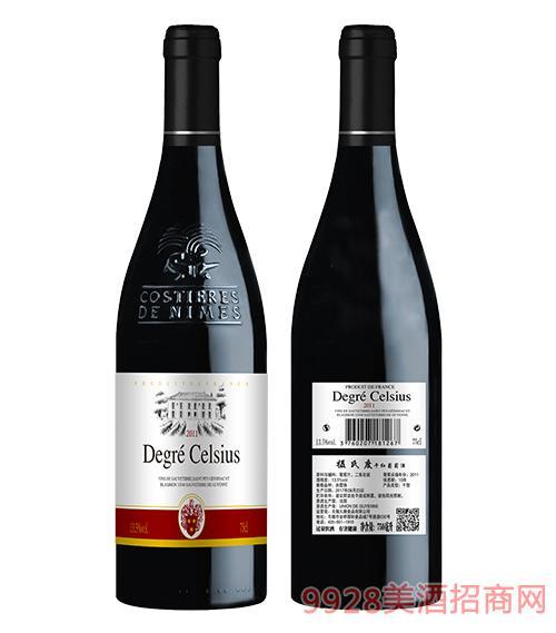 摄氏度干红葡萄酒13.5度750ml