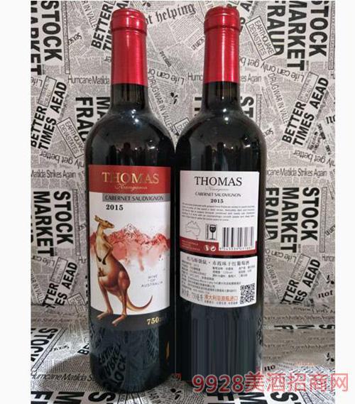 托马斯袋鼠赤霞珠干红葡萄酒2015 750ml