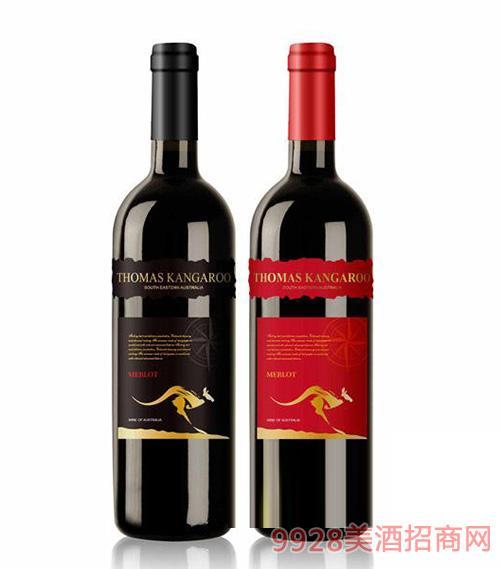 托马斯袋鼠MEELOT干红葡萄酒750ml