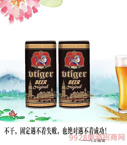 新加坡劲虎啤酒黑啤950mlx6
