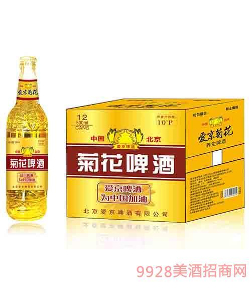 爱京菊花啤酒500mlx12