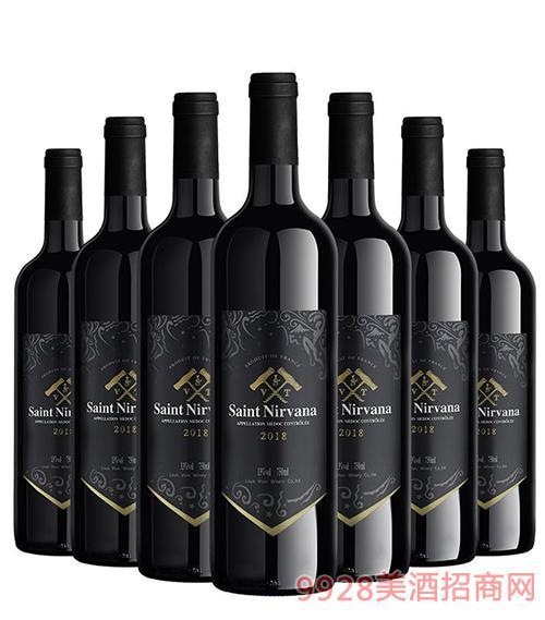 法国圣尼威樽歌海娜干红葡萄酒2018