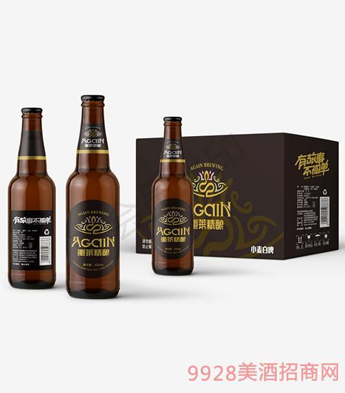 重莱精酿小麦白啤瓶装330ml