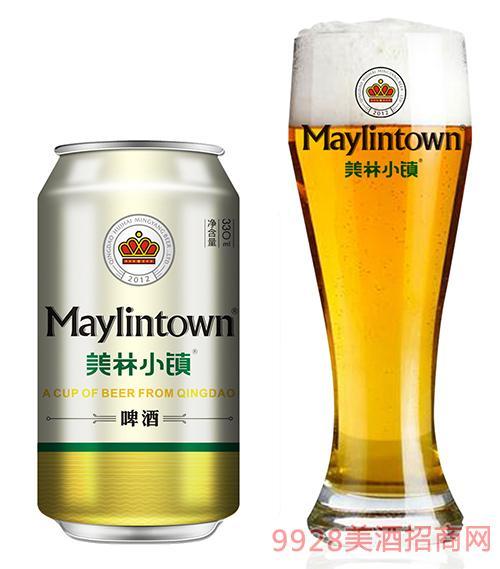 美林小镇啤酒330ml金罐