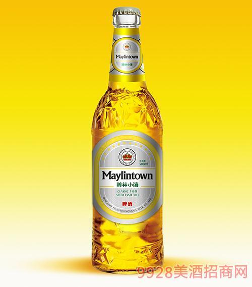 美林小镇啤酒500ml大瓶