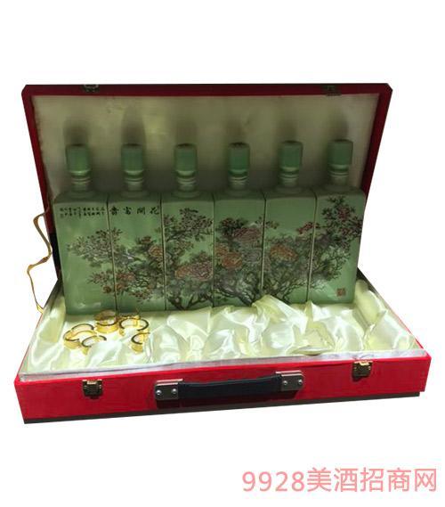 富�F�_花�Y盒酒