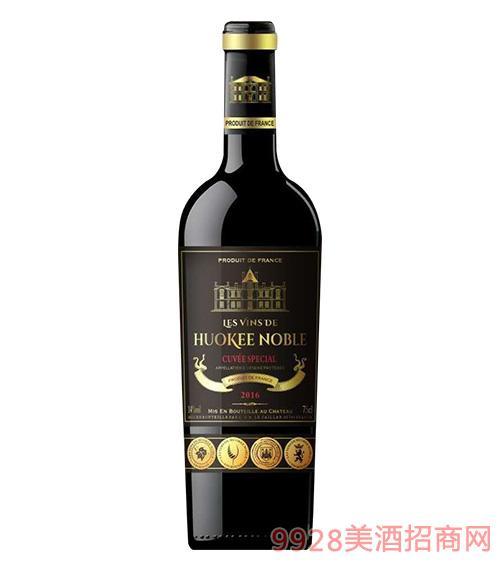 胡克���F族酒�f干�t葡萄酒750ml