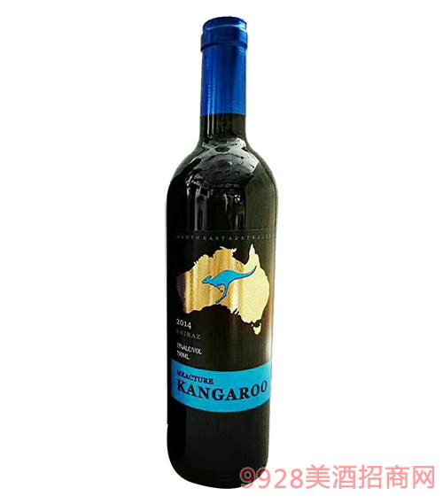 米爵袋鼠・西拉干�t葡萄酒13度750ml