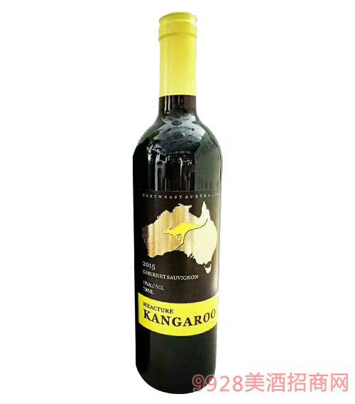 米爵袋鼠・赤霞珠干�t葡萄酒750ml