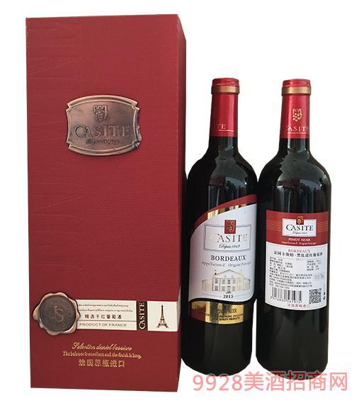 法國卡斯特黑比諾紅葡萄酒