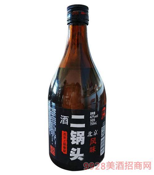 北京风味二锅头酒42度750ml