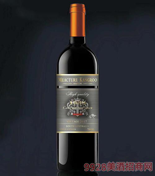 米爵袋鼠赤霞珠干红葡萄酒