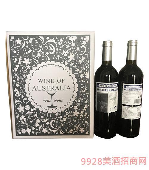 米爵袋鼠赤霞珠干�t葡萄酒