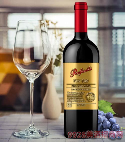 奔富尼澳FIN389干红葡萄酒13度750ml