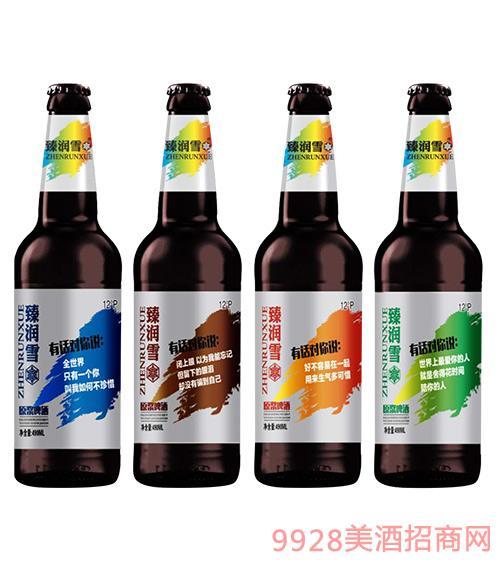 臻润雪原浆啤酒12度490ml