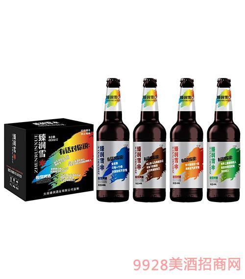 臻润雪原浆啤酒490mlx12