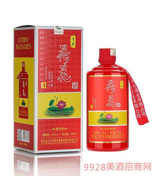 茅琼荷花酒(红色款)