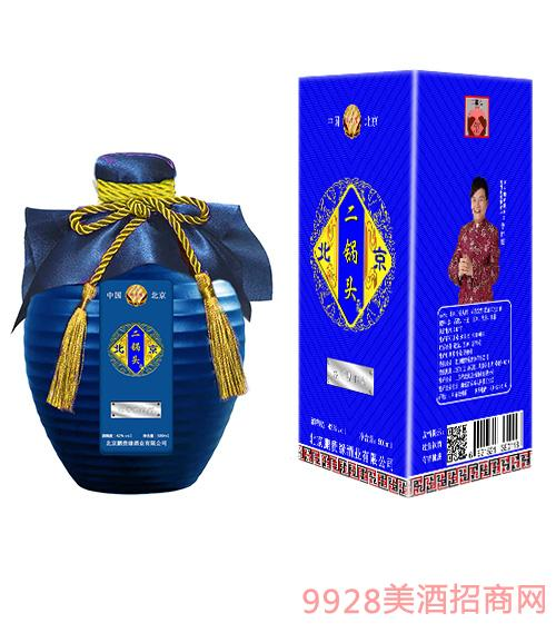 盒装蓝坛二锅头酒