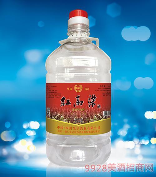 红高粱酒桶装酒3800ml