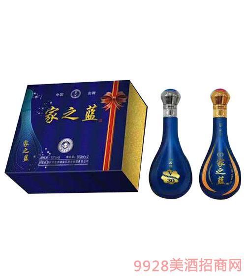 家之蓝酒礼盒52度500ml