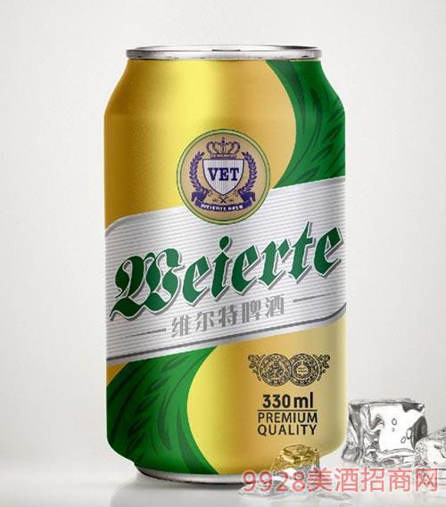维尔特啤酒绿标罐装330ml