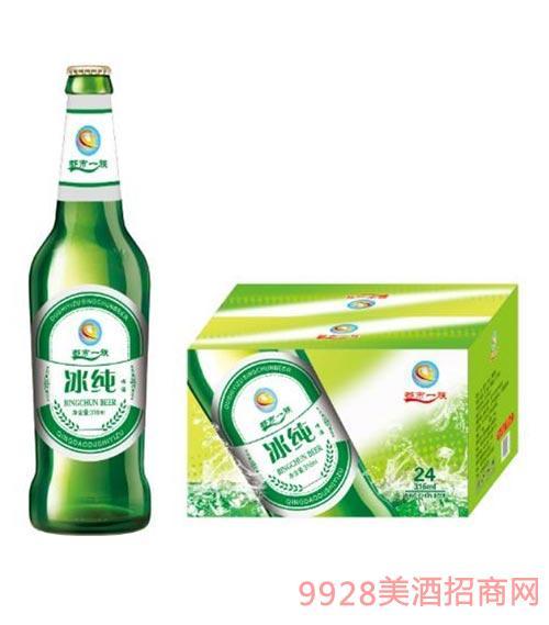 冰纯啤酒316mlx24