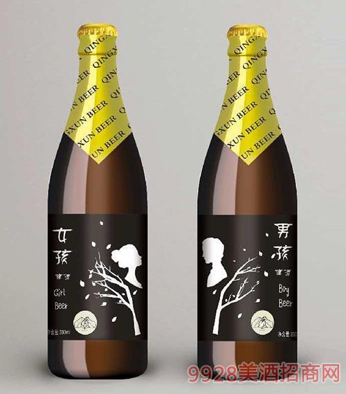 男孩女孩啤酒330ml瓶装