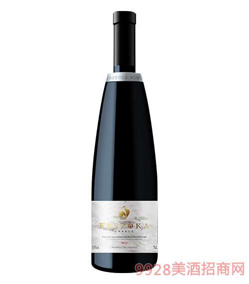 法蘭風情小鎮干紅葡萄酒