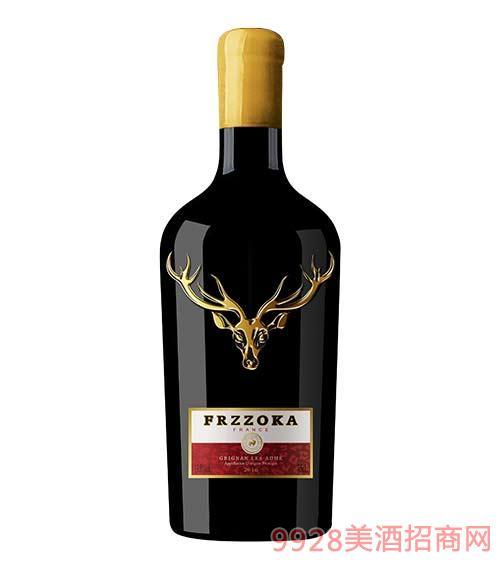 法蘭風情鹿王干紅葡萄酒