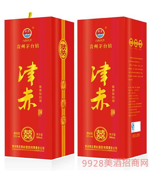 津赤喜酒53度500ml