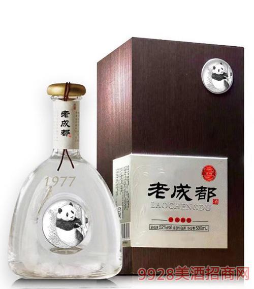 盒�b老成都1977酒52度500ml