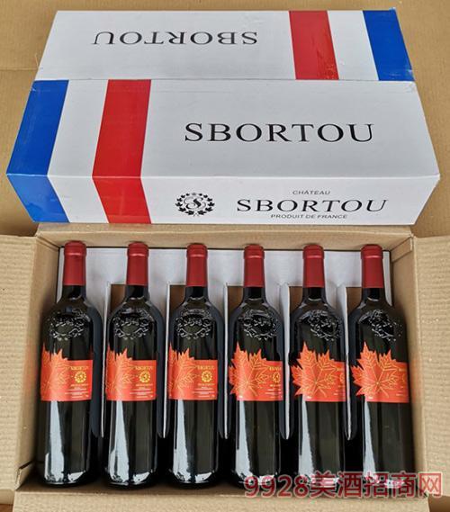 法國LG拉古緣納~斯博圖紅葉干紅葡萄酒