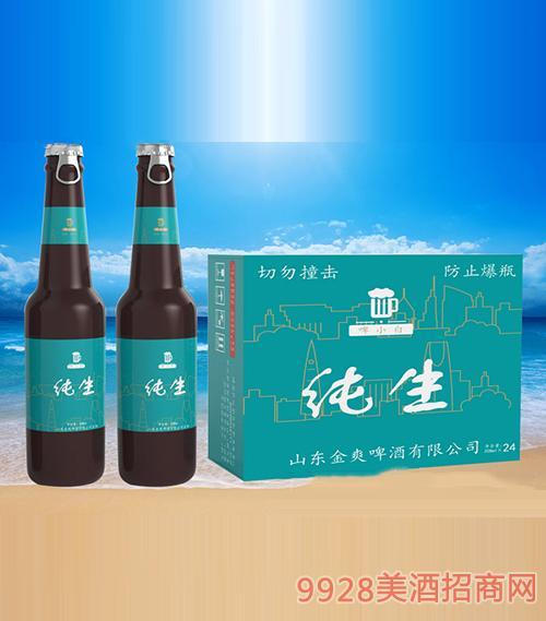 啤小白純生啤酒208ml(側拉環)
