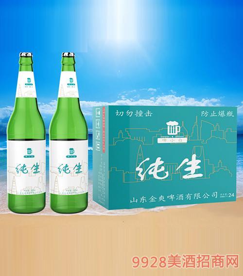 啤小白纯生啤酒500ml(大绿瓶)