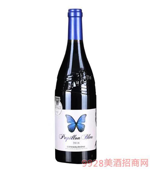 蓝蝴蝶红葡萄酒14.5度750ml