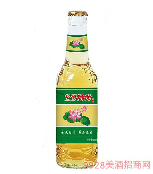 钻石荷花啤酒330ml瓶装