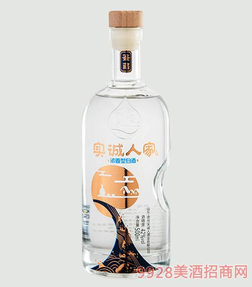 实诚人家酒-鉴藏42度500mlx6