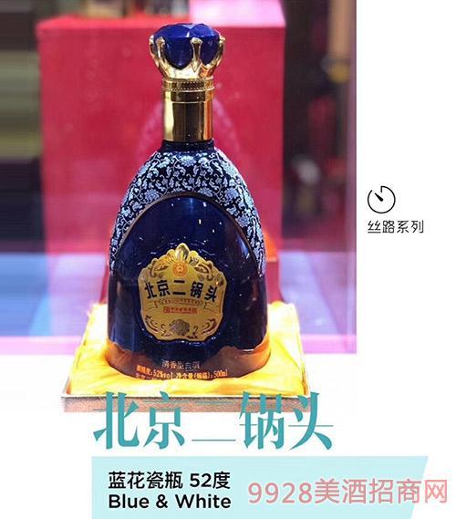 北京二锅头酒蓝花瓷瓶52度500ml